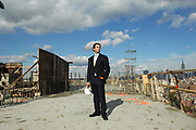 Donald Trump, Jr. is seen at the construction site of the new Trump Soho Hotel in Manhattan, NY. 11/6/2007 Photo by Jennifer S. Altman/For The New York Times