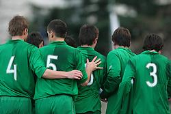 Team of Slovenia during Friendly match between U-21 National teams of Slovenia and Romania, on February 11, 2009, in Nova Gorica, Slovenia. (Photo by Vid Ponikvar / Sportida)