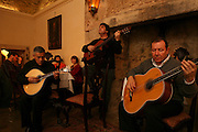 """Manager, composer, singer and player Jorge Fernando has been contribuing deeply  for the interest that Fado music  is gaining again in younger generations. Here he is performing in """"Bacalhau de Molho"""" restaurant."""