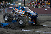 MONSTER TRUCK_Equalizer competing at the Monster Truck Challenge at the Orange County (NY) Fair Speedway.