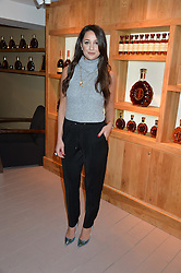 ROXIE NAFOUSI at the launch of La Maison Remy Martin based at 19 Greek Street, London on 24th November 2014.