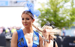 Olivia Attwood during ladies day of the 2018 Investec Derby Festival at Epsom Downs Racecourse, Epsom.