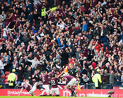 Heart of Midlothian Ryan Edwards celebrates goal during the William Hill Scottish Cup Final at Hampden Park, Glasgow.