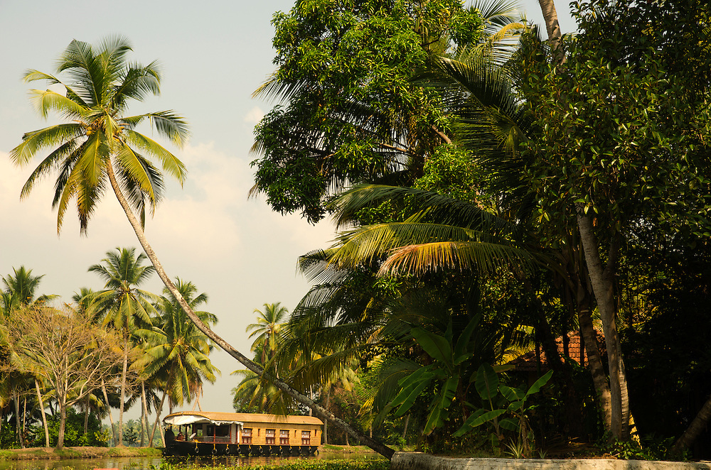 A typical houseboat on Kerala Backwaters, South India