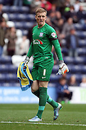 Preston North End Goalkeeper Jordan Pickford looks on. Skybet football league championship match, Preston North End v Cardiff City at the Deepdale stadium in Preston, Lancashire on Saturday 17th October 2105.<br /> pic by Chris Stading, Andrew Orchard sports photography.