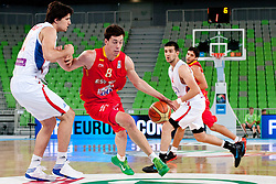 Jure Besedic of Slovenia during basketball match between National teams of Serbia and Spain in Placement match for 3rd place of U20 Men European Championship Slovenia 2012, on July 22, 2012 in SRC Stozice, Ljubljana, Slovenia. (Photo by Urban Urbanc / Sportida.com)