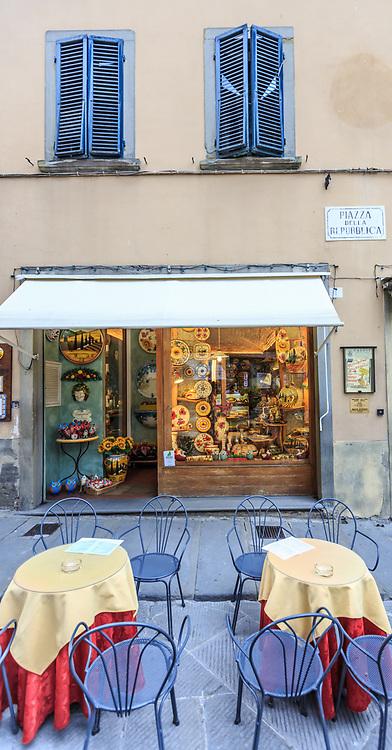 A Ceramic shop in Cortona, Italy.