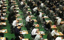 "File photo dated 09/01/17 of students sitting their GCSE mock exams at Brighton College in Brighton, East Sussex. The new GCSE grading system has ""ratcheted up the pressure"" on teenagers, school leaders have warned."