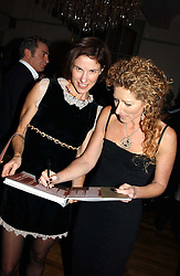 Left to right, NORI STARCK and KELLY HOPPEN at a party to celebrate the publication of Style by interior designer Kelly Hoppen held at 50 Cheyne Walk, London on 10th November 2004.<br /><br />NON EXCLUSIVE - WORLD RIGHTS