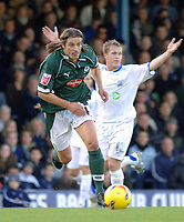 Photo: Ashley Pickering.<br />Southend United v Plymouth Argyle. Coca Cola Championship. 18/11/2006.<br />Plymouth's Lilian Nalis (l) gets away from Sothend's Peter Clarke