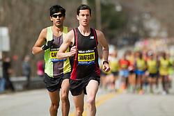 2013 Boston Marathon: Robin Watson, Canada leads race early with Fernando Cabada