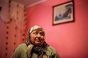 Portrait of Ana Gurau (58) in her home located in the village of Marginenii de Jos. Mrs. Gurau is a pensioner by now.