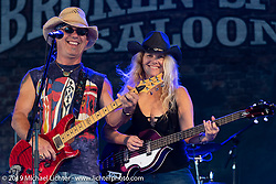 The Danny Charles Band plays the Broken Spoke Saloon in Ormond Beach during Daytona Beach Bike Week, FL. USA. Sunday, March 10, 2019. Photography ©2019 Michael Lichter.
