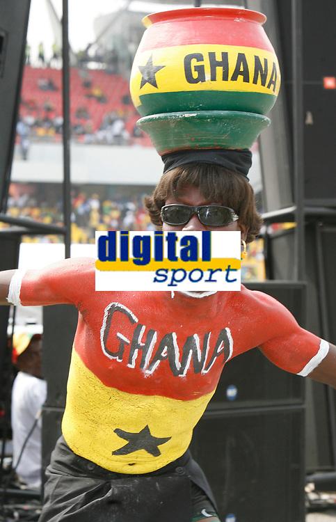 Photo: Steve Bond/Richard Lane Photography.<br />Ghana v Guinea. Africa Cup of Nations. 20/01/2008. Ghana fans