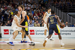 March 2, 2018 - Madrid, Madrid, Spain - Fabien Causeur (L) during Fenerbahce Dogus Istanbul victory over Real Madrid (83 - 86) in Turkish Airlines Euroleague regular season game (round 24) celebrated at Wizink Center in Madrid (Spain). March 2nd 2018. (Credit Image: © Juan Carlos Garcia Mate/Pacific Press via ZUMA Wire)