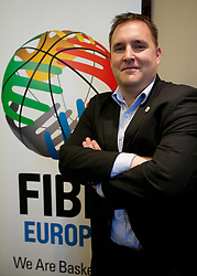 Matej Avanzo of KZS at Eurobasket 2013 Candidate presentation of Slovenia at FIBA EUROPE Board on December 05, 2010 in Munich, Germany. The Board decided that Eurobasket 2013 will be hold in Slovenia. (Photo By Vid Ponikvar / Sportida.com)