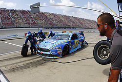 August 12, 2018 - Brooklyn, Michigan, United States of America - Ricky Stenhouse, Jr (17) brings his car down pit road for service during the Consumers Energy 400 at Michigan International Speedway in Brooklyn, Michigan. (Credit Image: © Chris Owens Asp Inc/ASP via ZUMA Wire)