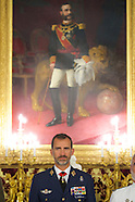 091814 King Felipe VI attends a Military Audiences