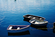 Image of rowboats in the harbor in Rockport, Maine, American Northeast by Andrea Wells