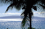 Sunset, Kahoolawe in background, Wailea, Maui<br />