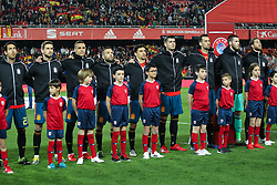 March 23, 2019 - Valencia, Valencia, Spain - Players of Spain in action during European Qualifiers championship, , football match between Spain and Norway, March 23th, in Mestalla Stadium in Valencia, Spain. (Credit Image: © AFP7 via ZUMA Wire)