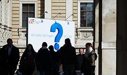 THEMENBILD - 650-Jahre- Jubiläum der Universität Wien. Die Universität Wien ist eine der größten Universitäten Mitteleuropas und wurde 1365 gegründet. Aufgenommen am 09.03.2015 in Wien, Österreich // 650 Years of the University of Vienna Anniversary. The University of Vienna is a public university and the largest in Austria and was founded by Duke Rudolph IV in 1365. Austria on 2015/03/09. EXPA Pictures © 2015, PhotoCredit: EXPA/ Michael Gruber