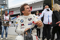 January 26, 2019 - Daytona, FL, U.S. - DAYTONA, FL - JANUARY 26: Alex Zanardi, driver of the the #24 BMW Team RLL BMW M8 GTE, looks on before the Rolex 24 at Daytona on January 26, 2019 at Daytona International Speedway in Daytona Beach, Fl. (Photo by David Rosenblum/Icon Sportswire) (Credit Image: © David Rosenblum/Icon SMI via ZUMA Press)