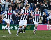 Photo: Mark Stephenson.<br />West Bromwich Albion v Sunderland. Coca Cola Championship. 03/03/2007.<br />West Brom's Darren Carter celebrates his goal