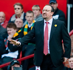 21.03.2010, Old Trafford, Manchester, ENG, PL, Manchester United vs Liverpool FC im Bild Liverpool's manager Rafael Benitez., EXPA Pictures © 2010, PhotoCredit: EXPA/ Propaganda/ D. Rawcliffe / SPORTIDA PHOTO AGENCY