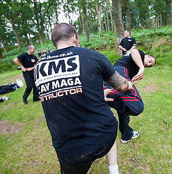 IKMS instructtors on a training visit to Krav Island at Balmaha and on Inchcailoch Island, Loch Lomond..© Michael Schofield.