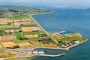 Nederland, Noord-Holland, Texel, 05-08-2014; 't Horntje, veerhaven met veerboot van TESO.<br /> Ferry harbor with ferry.<br /> luchtfoto (toeslag op standard tarieven);<br /> aerial photo (additional fee required);<br /> copyright foto/photo Siebe Swart