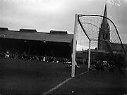 11/09/1960<br /> 09/11/1960<br /> 11 September 1960<br /> Soccer International Ireland v Iceland at Dalymount Park, Dublin. Iceland keeper Danielsson beaten for Ireland's first goal.