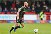 Forest Green Rovers Farrend Rawson(6) on the ball during the EFL Sky Bet League 2 match between Crawley Town and Forest Green Rovers at The People's Pension Stadium, Crawley, England on 6 April 2019.