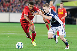 © Licensed to London News Pictures. 24/7/2013. Jordan Ibe  during the Melbourne Victory Vs Liverpool F.C at the Melbourne Cricket Ground, Melbourne, Australia. Photo credit : Asanka Brendon Ratnayake/LNP