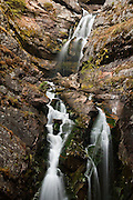 Lodgepole Creek Falls located on the edge of Bob Marshall Wilderness
