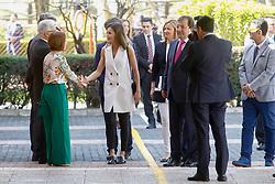 Queen Letizia attends the opening of the 5th Congress of rare diseases at Pedro de Valdivia high school in Villanueva de la Serena, Spain, on April 26, 2018. Photo by Archie Andrews/ABACAPRESS.COM