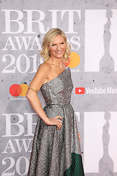 Jo Whiley is seen arriving at the O2 in London for the 2019 Brit Awards.<br /><br />20 February 2019.<br /><br />Please byline: Vantagenews.com