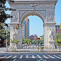 Washington Square Arch from Fifth Avenue
