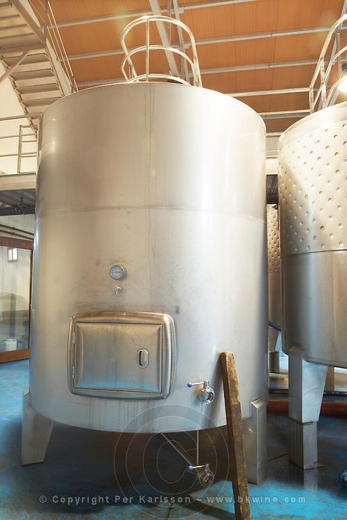 thermo-insulated tank Bodegas Margon , DO Tierra de Leon , Pajares de los Oteros spain castile and leon