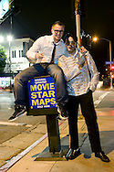 16th February 2010. Hollywood, California. Alex Petrov, who is hoping to be cast in MTV's Brighton Beach, the Russian/American version of Jersey Shores. Alex is pictured with Michael Jackson look-a-like Paul Rice on Hollywood Blvd. PHOTO © JOHN CHAPPLE / www.chapple.biz.(001) 310 570 9100   john@chapple.biz   www.chapple.biz