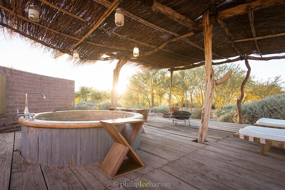 Hot tub at Tierra Atacama Hotel in San Pedro de Atacama, Chile