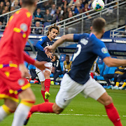PARIS, FRANCE - September 10: Antoine Griezmann #7 of France provides the free kick assist for Clement Lenglet #19 of France to score with a header during the France V Andorra, UEFA European Championship 2020 Qualifying match at Stade de France on September 10th 2019 in Paris, France (Photo by Tim Clayton/Corbis via Getty Images)