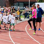 NLD/Utrecht/20160903 - Daphne Schippers geeft een clinic bij haar oude club,