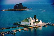 Church in a bay, Corfu Island, Greek Islands