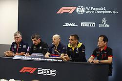 August 30, 2019, Spa-Francorchamps, Belgium: Motorsports: FIA Formula One World Championship 2019, Grand Prix of Belgium, ..Otmar Szafnauer (ROU, Racing Point F1 Team), Guenther Steiner (ITA, Haas F1 Team), Franz Tost (AUT, Red Bull Toro Rosso Honda), Cyril Abiteboul (FRA, Renault F1 Team), Toyoharu Tanabe (Honda) (Credit Image: © Hoch Zwei via ZUMA Wire)