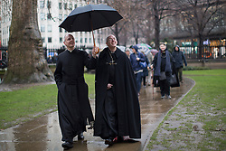© licensed to London News Pictures. London, UK 16/03/2013. Archbishop of Canterbury the Most Rev Justin Welby (centre) conducts a journey from the City of London to Southwark with prayers on Saturday 16 March 2013. Photo credit: Tolga Akmen/LNP