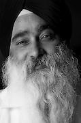 Portrait of Gurdev Singh at Bridgewater Gurudwara.