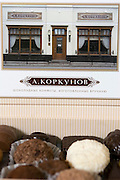 Moscow, Russia, 15/06/2006..Chocolates and other confectionary on display at the Korkunov Chocolates boutique store in central Moscow.