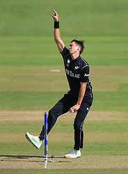 New Zealand's Trent Boult during the ICC Champions Trophy, Group A match at Sophia Gardens, Cardiff. PRESS ASSOCIATION Photo. Picture date: Friday June 9, 2017. See PA story CRICKET India. Photo credit should read: Nigel French/PA Wire. RESTRICTIONS: Editorial use only. No commercial use without prior written consent of the ECB. Still image use only. No moving images to emulate broadcast. No removing or obscuring of sponsor logos.