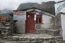 Electronics shop in Kalopani on day-5  of our Himalayan Heroes adventure riding from Kalopani through the Mustang District to our highest elevation of the trip at over 12,000' when we reached Muktinath, Nepal. Saturday, November 10, 2018. Photography ©2018 Michael Lichter.